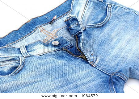 Isolated Part Of A  Female Jeans.
