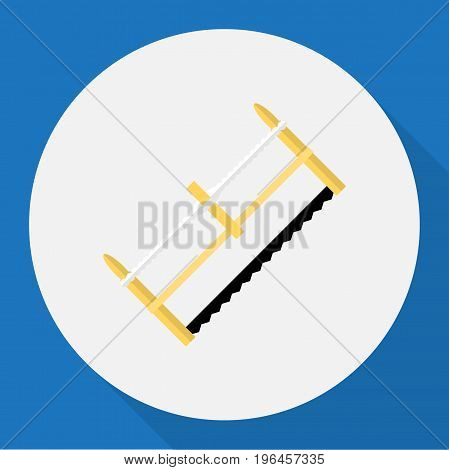 Vector Illustration Of Tools Symbol On Hacksaw Flat Icon