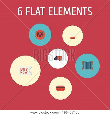 Flat Icons Payment, Buy Now, Big Sale And Other Vector Elements