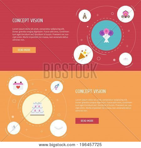 Flat Icons Sexuality Symbol, Sparkler, Patisserie And Other Vector Elements