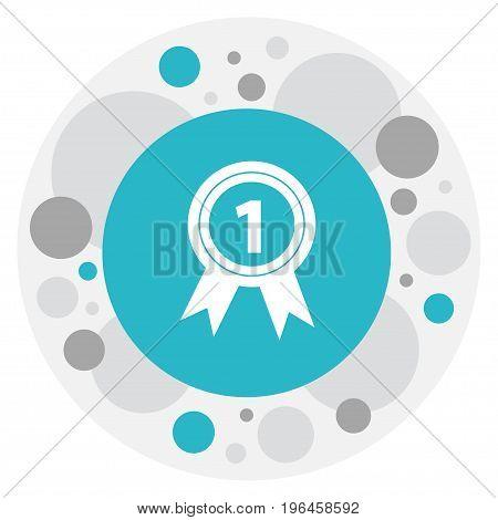 Vector Illustration Of Office Symbol On Award Icon