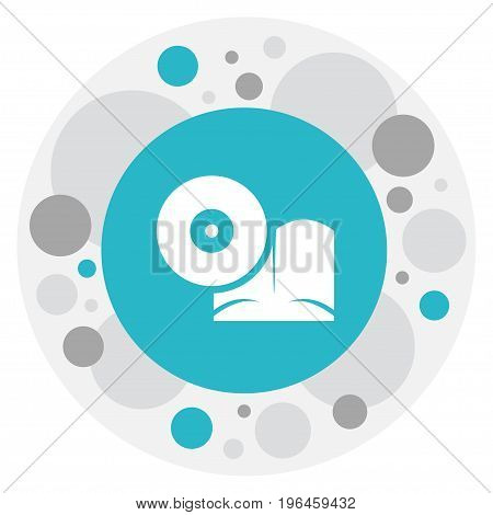 Vector Illustration Of Teach Symbol On Cd In Book Icon