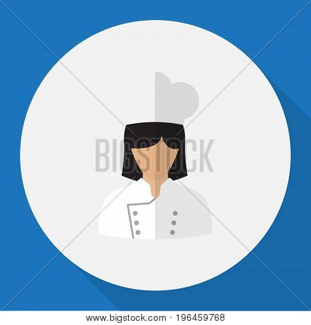 Vector Illustration Of Job Symbol On Cook Flat Icon