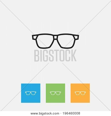 Vector Illustration Of Air Symbol On Sunglasses Outline