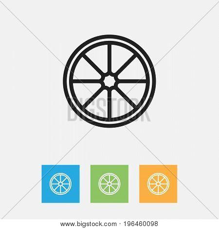 Vector Illustration Of Cook Symbol On Orange Outline
