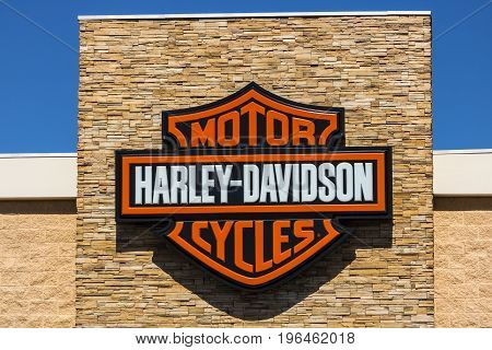 Las Vegas - Circa July 2017: Harley-Davidson Local Signage. Harley Davidsons Motorcycles are Known for Their Loyal Following X