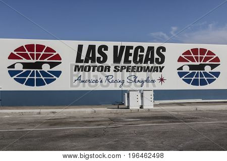 Las Vegas - Circa July 2017: Las Vegas Motor Speedway. LVMS hosts NASCAR and NHRA events including the Pennzoil 400 V