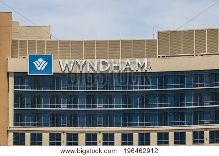 Las Vegas - Circa July 2017: Wyndham Hotels and Resorts Las Vegas property. Wyndham has Hotels on five continents in 22 countries I