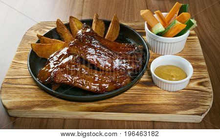 Grilled Caramelized Pork Ribs