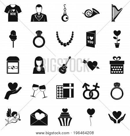 Wedding apparel icons set. Simple set of 25 wedding apparel vector icons for web isolated on white background