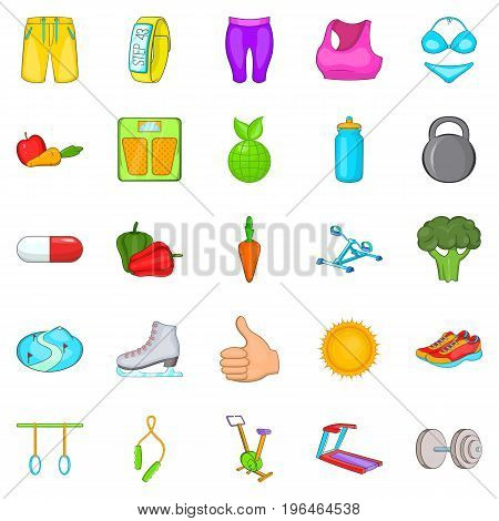 Lifestyle icons set. Cartoon set of 25 lifestyle vector icons for web isolated on white background