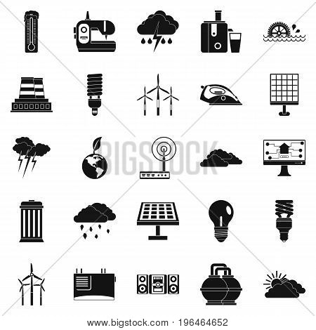 Windmill icons set. Simple set of 25 windmill vector icons for web isolated on white background