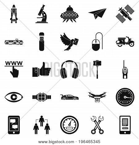 Web icons set. Simple set of 25 web vector icons for web isolated on white background