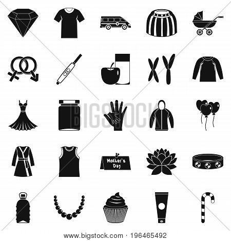 Relations icons set. Simple set of 25 relations vector icons for web isolated on white background