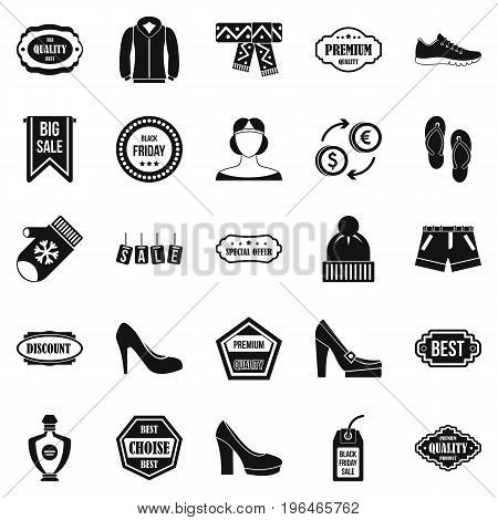 Sales icons set. Simple set of 25 sales vector icons for web isolated on white background