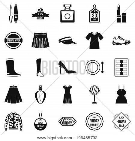 Clearance sale icons set. Simple set of 25 clearance sale vector icons for web isolated on white background
