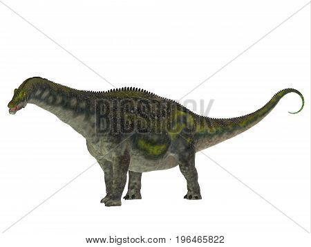 Diamantinasaurus Dinosaur Side Profile 3d illustration - Diamantinasaurus was a herbivorous sauropod dinosaur that lived in Australia during the Cretaceous Period.