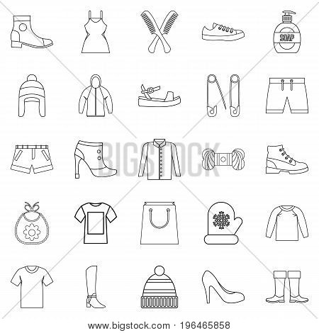 Present icons set. Outline set of 25 present vector icons for web isolated on white background
