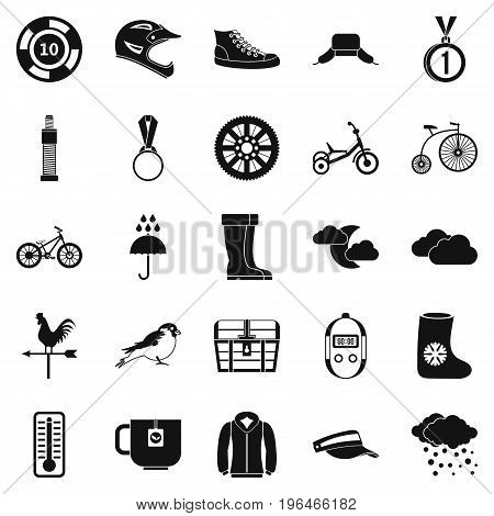 Outdoor sports icons set. Simple set of 25 outdoor sports vector icons for web isolated on white background