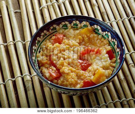 Schurbat Adas Ma Qar - Iraqi Lentil Pumpkin Soup