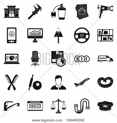 Transport department icons set. Simple set of 25 transport department vector icons for web isolated on white background