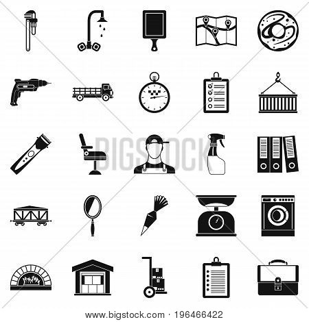 Warehouses icons set. Simple set of 25 warehouses vector icons for web isolated on white background