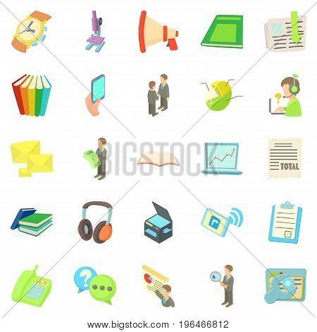 Freelancer icons set. Cartoon set of 25 freelancer vector icons for web isolated on white background