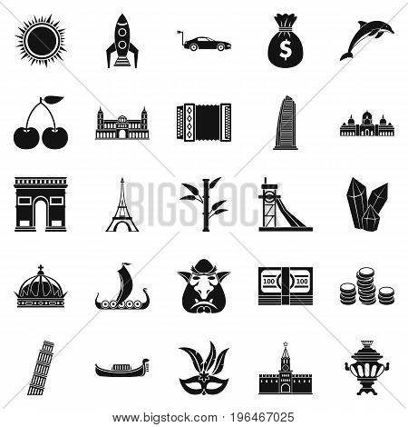 Exploring the world icons set. Simple set of 25 exploring the world vector icons for web isolated on white background