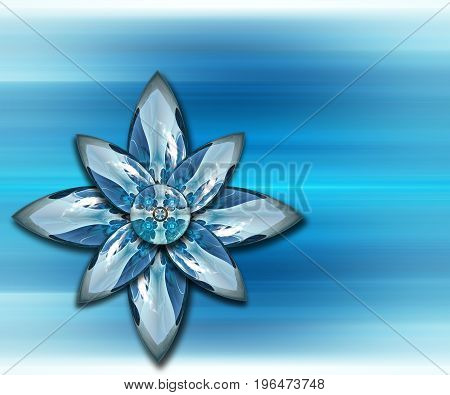 3D rendering combo artwork with fractal and fractal duo stars buttons