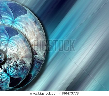 3D rendering combo artwork with fractal and fractal duo half buttons