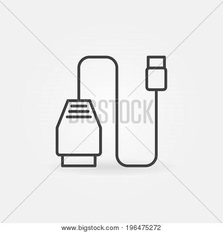 Car scan tool icon. Vector car diagnostic scanner outline concept symbol