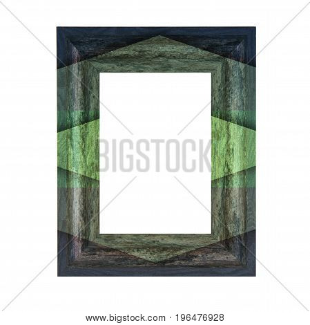 Rustic Patten Wooden Frame on a white background