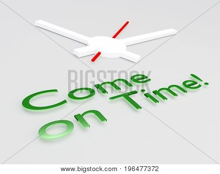 Come On Time! Concept
