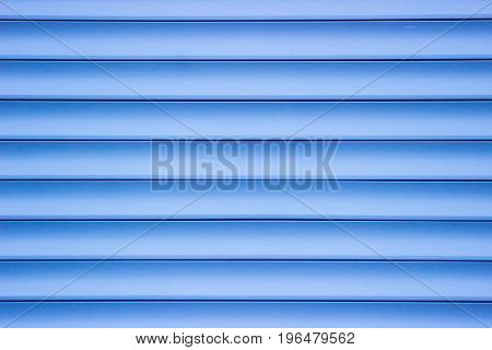 Blue Plastic Panel Siding Texture.