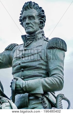 Andrew Jackson Statue President's Park Lafayette Square Washington DC Created in 1850 Clark Mills Sculptor