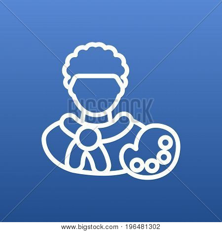 Vector Artist   Element In Trendy Style. Isolated Painter Outline Symbol On Clean Background.