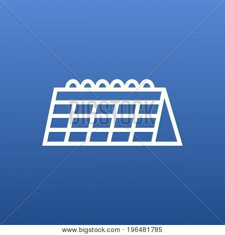 Isolated Date Outline Symbol On Clean Background. Vector Calendar Element In Trendy Style.
