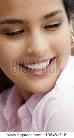 A Portrait of a Hispanic Female Teen