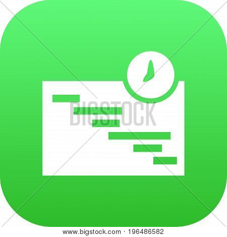 Isolated Schedule Icon Symbol On Clean Background. Vector Graph Element In Trendy Style.