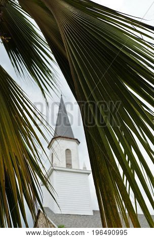 Exterior Details Of Mokuaikaua Church