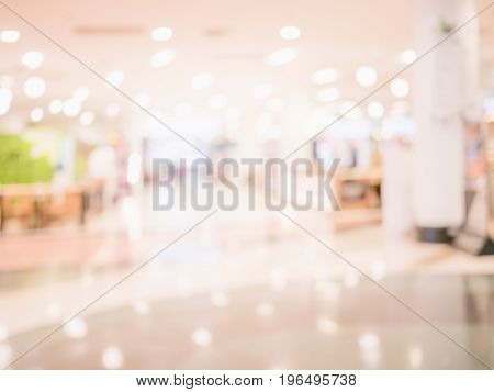 Abstract blur luxury interior shopping mall background.
