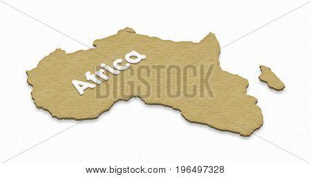 Map Of Africa. 3D Isometric Illustration.