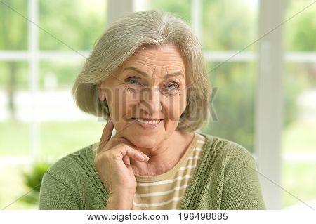 Portrait of a beautiful sa elderly woman, close up