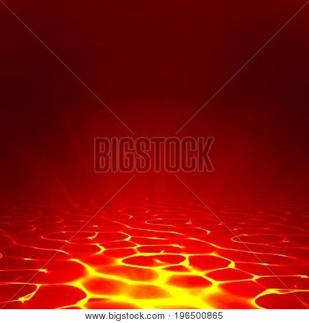 Vector lava background. Abstract lava wallpaper red flame illustration. Volcanic burn of magma. Burnt ground.