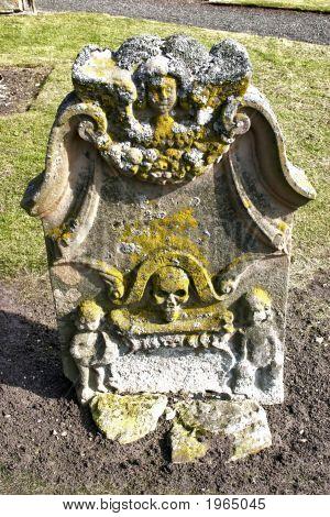 Old Weathered Gravestone