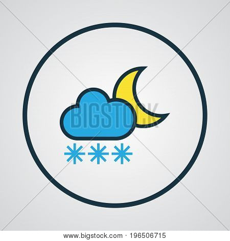 Twilight Colorful Outline Symbol. Premium Quality Isolated Freeze Element In Trendy Style.
