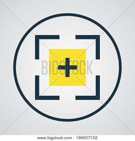 Premium Quality Isolated Target Element In Trendy Style. Full Screen Colorful Outline Symbol.