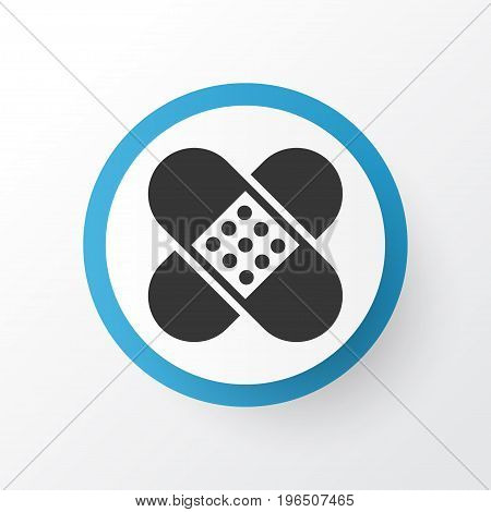 Premium Quality Isolated Bandage Element In Trendy Style. Adhesive Plaster Icon Symbol.