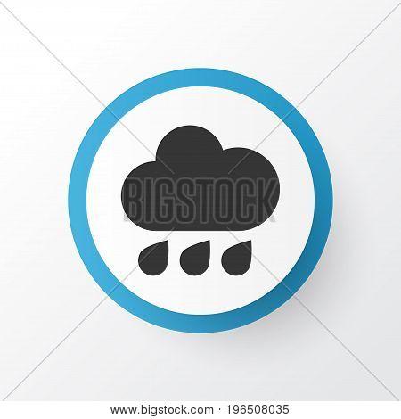 Premium Quality Isolated Rainy Element In Trendy Style. Rain Icon Symbol.