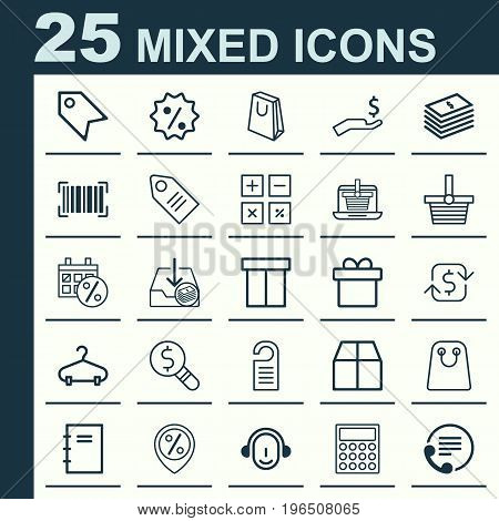Ecommerce Icons Set. Collection Of Rich, Box, Business Inspection And Other Elements